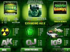 The Incredible Hulk 50 Lines slotgames77.com Playtech 2/5