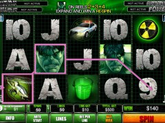 The Incredible Hulk 50 Lines slotgames77.com Playtech 4/5