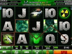 The Incredible Hulk 50 Lines slotgames77.com Playtech 5/5