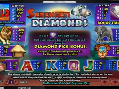 Serengeti Diamonds slotgames77.com Amaya 3/5