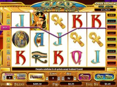 Cleo Queen of Egypt slotgames77.com CryptoLogic 3/5