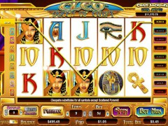 Cleo Queen of Egypt slotgames77.com CryptoLogic 4/5