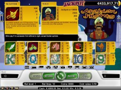 Arabian Nights slotgames77.com NetEnt 2/5