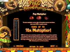 Paco and the Popping Peppers slotgames77.com Betsoft 3/5