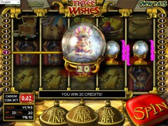 Three Wishes slotgames77.com Betsoft 4/5