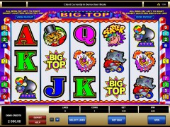 Big top slotgames77.com Microgaming 1/5