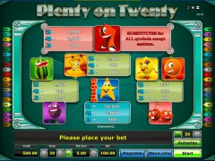 Plenty on twenty slotgames77.com Greentube 2/5