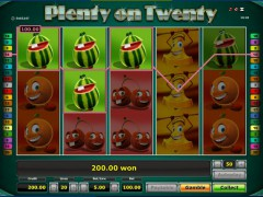 Plenty on twenty slotgames77.com Novoline 4/5