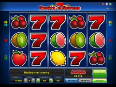 Fruits 'n Sevens slotgames77.com Greentube 1/5
