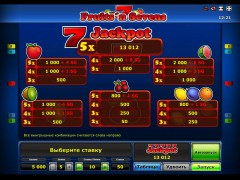 Fruits 'n Sevens slotgames77.com Greentube 2/5