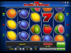 Fruits 'n Sevens slotgames77.com Greentube 4/5