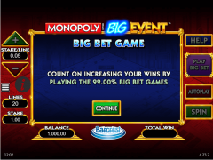 Monopoly Big Event slotgames77.com William Hill Interactive 1/5
