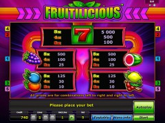 Fruitilicious slotgames77.com Greentube 2/5