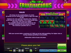Fruitilicious slotgames77.com Greentube 3/5