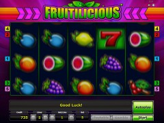 Fruitilicious slotgames77.com Greentube 4/5