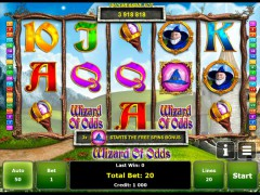 Wizard of Odds slotgames77.com Greentube 1/5