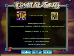 Crystal Gems slotgames77.com 2by2 Gaming 3/5