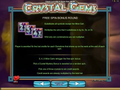 Crystal Gems slotgames77.com 2by2 Gaming 4/5