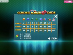 Golden Joker Dice slotgames77.com MrSlotty 5/5