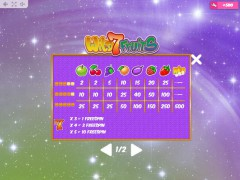 Wild7Fruits slotgames77.com MrSlotty 5/5
