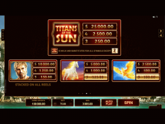 Titans of the Sun Hyperion slotgames77.com Microgaming 4/5