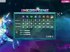 Unicorn Gems slotgames77.com MrSlotty 3/5