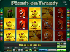 Plenty on Twenty slotgames77.com Novomatic 1/5